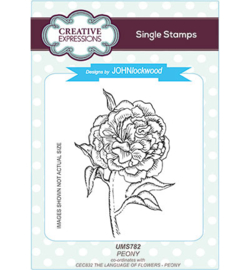 UMS782 Single Stamp Peony