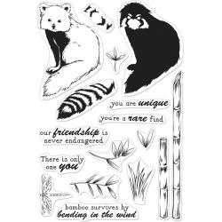 "554335 Hero Arts Clear Stamps Color Layering Red Panda 4""X6"""