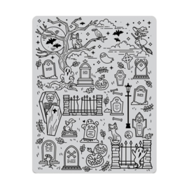 "605490 Hero Arts Cling Stamps Halloween Scene Background 4.5""X5.75"""