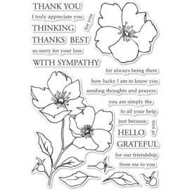 CL5258 Memory Box Clear Stamps Wild Rose Stem