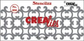 CLBP206 Crealies Stencilzz no. 206 ornamentjes