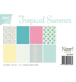 6011/0549 Papier Set A4 Tropical Summer