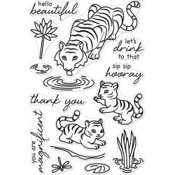 "594808 Hero Arts Clear Stamps Tiger Wisdom 4""X6"""