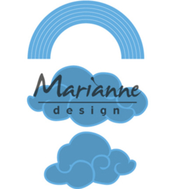LR0531 Marianne Design Creatables Rainbow & clouds
