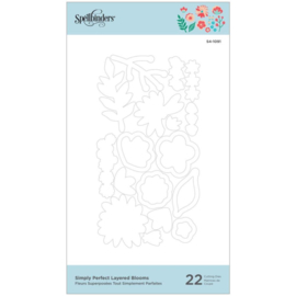 S41091 Spellbinders Etched Dies Simply Perfect Layered Blooms