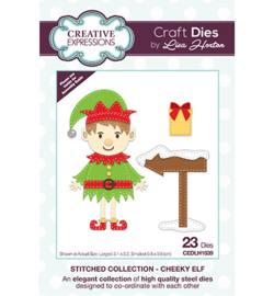 CEDLH1039 The Stitched Collection Cheeky Elf