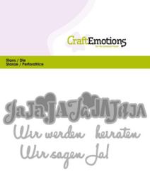 115633/0413 CraftEmotions Die Tekst - Wir werden heiraten