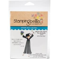 456580 Stamping Bella Cling Stamps Uptown Girl Grace The Graduate