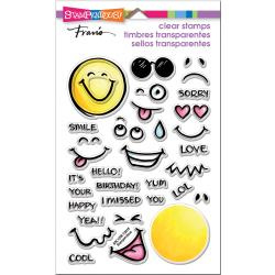 552974 Stampendous Perfectly Clear Stamps Emojis