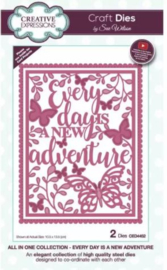 CED4452 Creative Expressions All in one craft die Every day is a new adventure