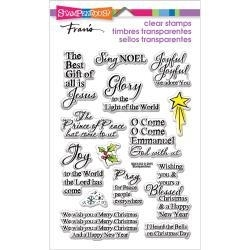 464584 Stampendous Perfectly Clear Christmas Stamps Joyful Phrases
