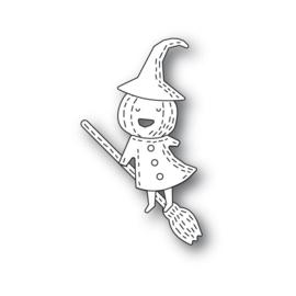 640184 Poppystamps Metal Dies Whittle Pumpkin Witch