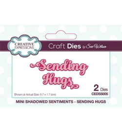 CEDSS005 Mini Shadowed Sentiments Sending Hugs