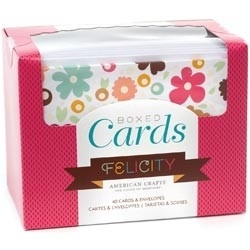 233897 Box Of Patterned Cards With Envelopes Felicity