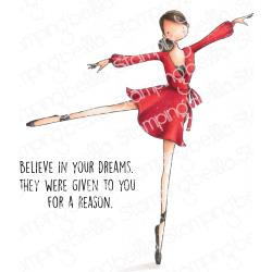 584747 Stamping Bella Cling Stamps Stephanie Loves Ballet