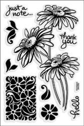 477346 Stampendous Clear Stamps Daisy Stem Trio