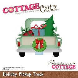 """540403 CottageCutz Die Holiday Pickup Truck 2.7""""X2.4"""""""