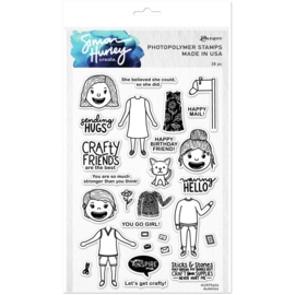 """HUR75424 Simon Hurley create. Cling Stamps Dudettes 6""""X9"""""""