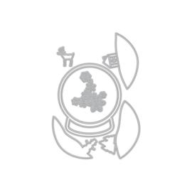 605510 Hero Arts Fancy Dies Layering Snow Globe