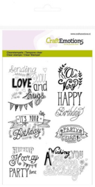 130501/1258 CraftEmotions clearstamps A6 birthday handlettering (Eng)