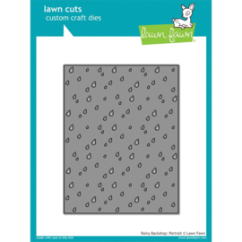 LF1926 Lawn Cuts Custom Craft Die Rainy Backdrop: Portrait