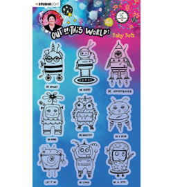 ABM-OOTW-STAMP74 - ABM Clear Stamp Baby Bots Out Of This World nr.74
