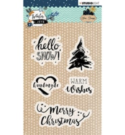 STAMPWJ418 StudioLight Stamp, Winter Joys nr.418