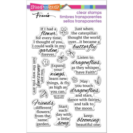 654032 Stampendous Perfectly Clear Stamps Winged Wishes