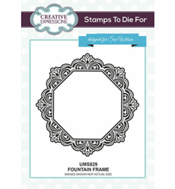 UMS829 Creative Expressions To Die For Stamp Fountain Frame