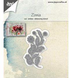 6002/1228 Cutting & embossing Bloem Zinnia
