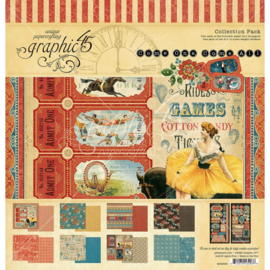 """G4502308 Graphic 45 Collection Pack Come One, Come All! 12""""X12"""""""