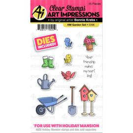 571603 Art Impressions Circlet Mini TryFolds Stamp & Die Set Garden