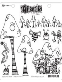 039014 Dyan Reaveley's Cling Stamp Collections Toadstool Town