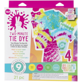 655319 Tulip Two-Minute Tie-Dye Color Kit Fruit Punch 4/Pkg