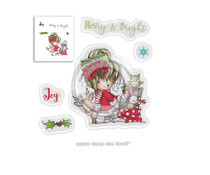 PD7965 Polkadoodles Winnie Merry & Bright Clear Stamps