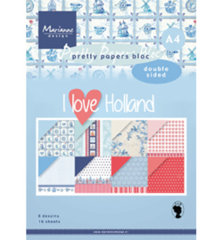 PK9168 Marianne Design Pretty Papers Blocks I love Holland A4