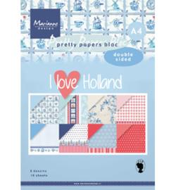 PK9168 Marianne Design Pretty Papers Blocks I love Holland A4