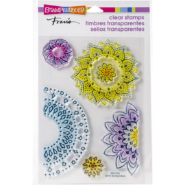 615367 Stampendous Perfectly Clear Stamps Floral Circles