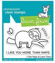 """LF2163 Lawn Fawn Clear Stamps I Like Naps 3""""X2"""""""
