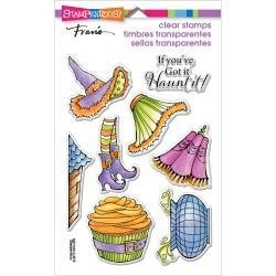 464580 Stampendous Perfectly Clear Halloween Stamps Witchy Legs