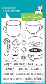 "LF1761 Lawn Fawn Clear Stamps Thanks A Latte 4""X6"""