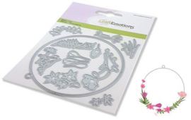 115633/0536 CraftEmotions Die floral decoration rond Card