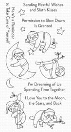 CS-528 My Favorite Things Slumbering Sloths Clear Stamps