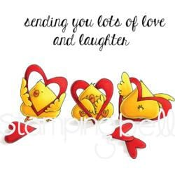 318546 Stamping Bella Cling Stamps Cool Chicks-Hearty Chicks