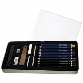 386419 Deluxe Sketching Art Set W/Tin
