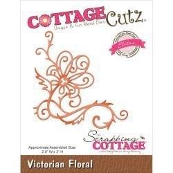 """423156 CottageCutz Elites Die Victorian Floral, 2.9""""X3"""""""