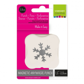 21450-006 Vaessen Creative magnetische pons sneeuwvlok 38mm
