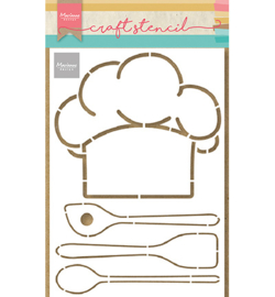 PS8086 Marianne Design Chefs hat & utensils