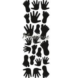CR1457 Craftables Punch die Hands & feet