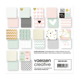 "200105-001 Vaessen Creative Love It cardstock 6x6"" 2x12 double sided"